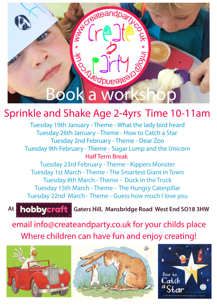 2016 spring Sprinkle and Shake workshops