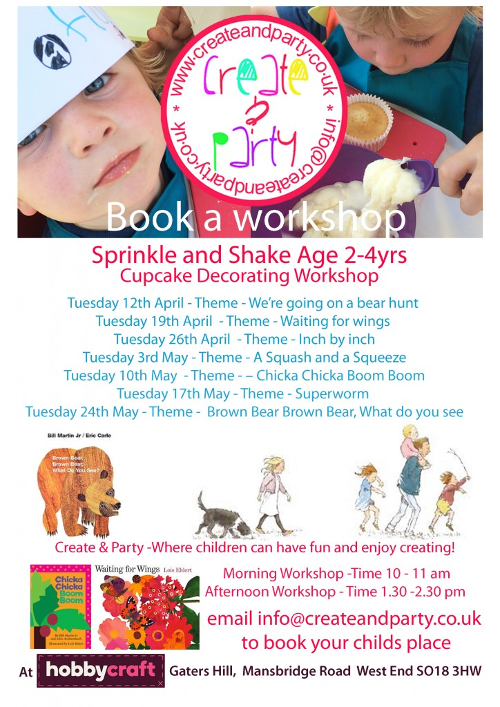 Sprinkle & Shake workshops Summer dates